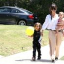 Kourtney Kardashian Takes the Kids to a Party in Beverly Hills