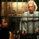 Ice Cube and director John Carpenter on the set of Screen Gems' John Carpenter's Ghosts of Mars - 2001 - 400 x 285