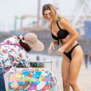 Rachel McCord in Black Bikini at the beach in Santa Monica - 454 x 681