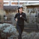 Amanda Holden in Tights Jogging in London - 454 x 610