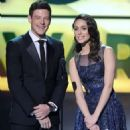 Corey Monteith and Emmy Rossum At The 18th Annual Critics' Choice Movie Awards - Show (2013)