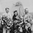 Cliff Henderson, actress Mary Pickford and pilot Jimmy Doolittle at the 1934 Cleveland National Air Races