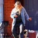 Hilary Duff – Out with her new puppy in NYC
