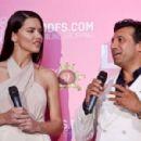Adriana Lima – Dossi Dossi Fashion Show Press Room in Antalya
