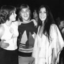 Don Johnson and Melanie Griffith WITH CHER – AT JOHNSON AND GRIFFITH'S WEDDING RECEPTION IN BEL-AIR, LOS ANGELES, CA. JAN 1976
