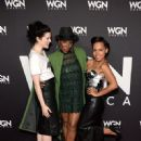 Jessica De Gouw attends WGN America's cocktail reception for 'Salem,' 'Outsiders,' and 'Underground' during New York Comic Con 2016 at The Standard Highline on October 8, 2016 in New York City - 451 x 600
