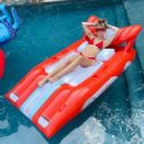 Miley Cyrus in Red Bikini in the pool – Instagram