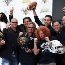 Motley Crue singer and RockStar Investment Group Inc. CEO Vince Neil speaks during a news conference at the Fremont Street Experience to announce the Las Vegas Outlaws as the newest Arena Football League team on September 25, 2014 in Las Vegas, Nevada - 454 x 340