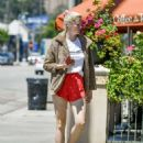 Ireland Baldwin in Red Shorts – Out on Ventura Blvd in Los Angeles - 454 x 588