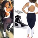 Blac Chyna: Colorblock Jumpsuit