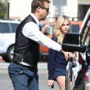 Chloe Moretz checks into a limo in Los Angeles