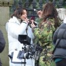 Michelle Keegan – on the set of 'Brassic' in Lancashire - 454 x 517