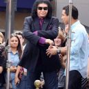 "Gene Simmons is seen at the Grove to appear on an episode of ""Extra"" in Los Angeles"