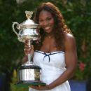 Serena Williams Wins Australian Open - Posing With Trophy
