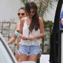 Selena Gomez & Francia Raisa enjoying a day on the beach in Malibu, California on June 23 - 454 x 564