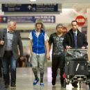 Justin Bieber to catch a late flight at LAX. anuary 21, 2011