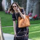Minka Kelly in Long Dress After Lunch in Beverly Hills January 31, 2017 - 454 x 681