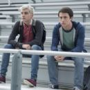 Miles Heizer as Alex Standall and Dylan Minnette as Clay Jensen in 13 Reasons Why (2017)