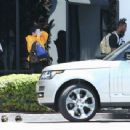 Kylie Jenner arrive at Van Nuys, California on August 13, 2016
