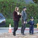Alessandra Ambrosio & Family Out In Santa Monica - 454 x 365
