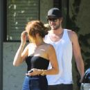 Miley Cyrus At A House With Liam Hemsworth In Los Angeles (13th May)