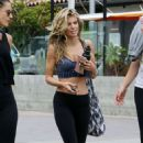 AnnaLynne McCord in Tights and Sports Bra out in Malibu - 454 x 720