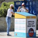 Cobie Smulders – casting her ballot in Los Angeles - 454 x 391