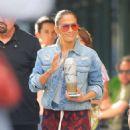 Jennifer Lopez – Leaves for her Madison Square Garden concert in New York City