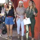 Blac Chyna, Kim Kardashian, Kourtney Kardashian, and Scott Disick Have Lunch at Stanley's in Los Angeles - September 24, 2013