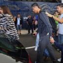 Cristiano Ronaldo and his girlfriend Irina Shayk arrived at Maderia Airport in Funchal on Monday (December 31)