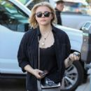 Chloe Moretz in Grey Tights out and about in Los Angeles