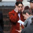 Aubrey Plaza – On the set of 'Chucky' in Vancouver