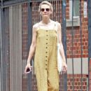 Carey Mulligan in Yellow Summer Dress – Out in NYC - 454 x 659