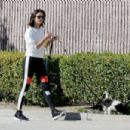 Nina Dobrev with her new rescue puppy Maverick in West Hollywood - 454 x 303
