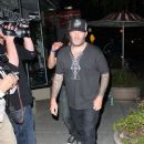 Limp Bizkit frontman Fred Durst arrives at Crown Bar