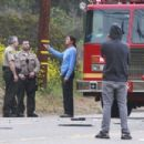 Bruce Jenenr a sobriety test at the roadside as emergency personnel crowded around the damaged cars. He passed the test Saturday, 2/7/2015
