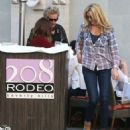 Rod Stewart and Penny Lancaster spotted out for lunch at the 208 Rodeo Restaurant in Beverly Hills, California on January 13, 2015 - 454 x 565