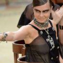 Cara Delevingne Chanel Fashion Week In Paris