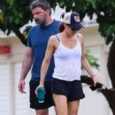 Jennifer Garner in Shorts with Ben Affleck out in Hawaii