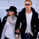 Ryan Gosling & Eva Mendes: Holding Hands at Paris Airport