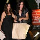 Courteney Cox with a girlfriend at Giorgio Baldi restaurant in Pacific Palisades - 454 x 681
