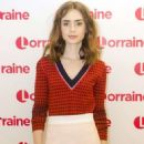 Lily Collins on 'Lorraine' TV Show in London - 454 x 768