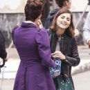 From time lords to time zones! Jenna Coleman and Michelle Gomez enjoy winter sun as they film Dr Who in Tenerife