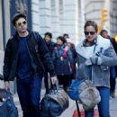 margarita levieva with her boyfriend sebastian stan in New York City's Tribeca district - 454 x 569