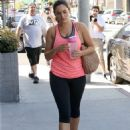 Kelly Brook In Tights At The Gym In La
