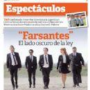 Alfredo Casero, Griselda Siciliani, Julio Chávez, Benjamín Vicuña, Facundo Arana, Farsantes - Espectaculos Magazine Cover [Argentina] (17 May 2013)