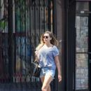 Elizabeth Olsen in Shorts out for lunch in Hollywood - 454 x 591