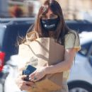 Dakota Johnson – Promotes ending homelessness with a message on her face mask in Malibu - 454 x 681