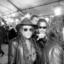Musician Joe Perry and actor/singer Johnny Depp of Hollywood Vampires attend The 58th GRAMMY Awards at Staples Center on February 15, 2016 in Los Angeles, California.