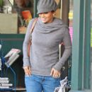 Jennifer Lopez Walks To Her New Black Audi SUV, Wearing A Grey Jumper And Matching Scarf And Cap In Los Angeles, November 29 2009